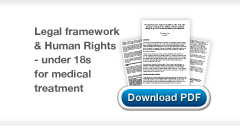 Download Chris Stone's The legal framework empowering children under 18 to make decisions in relation to their medical treatment examined through the prism of international human rights obligations publicatio