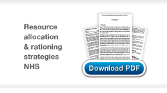 Download Christopher Stone's Resource allocation and rationing strategies in the NHS publication