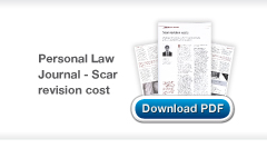 Download Chris Stone's Medical & Legal Scar Revision Cost article in the Law Journal