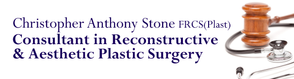 Christopher Anthony Stone Cosmetic Surgeon & Exeter Medical Legal expert website header
